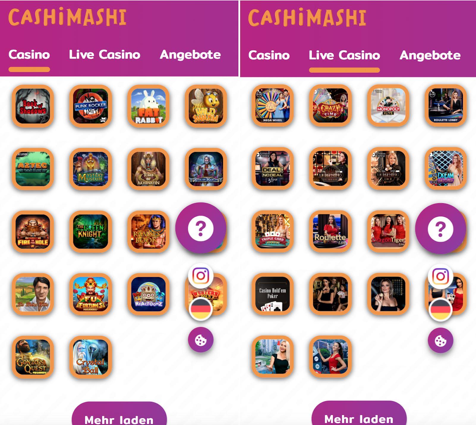 CashiMashi Casino App