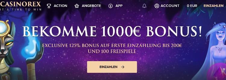 Exklusiver CasinoRex Bonus