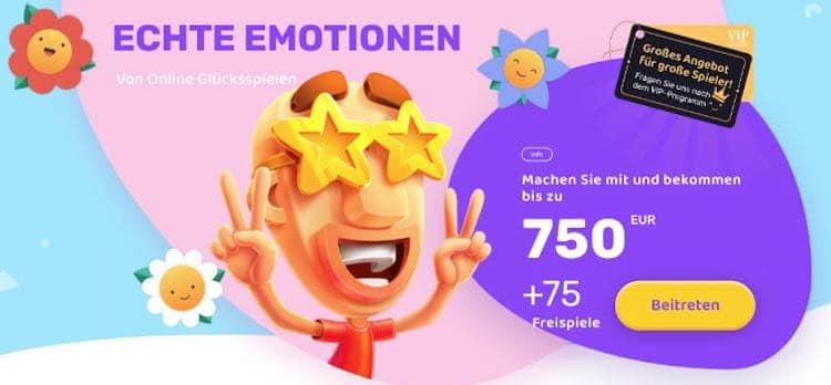Emojino Casino Willkommensbonus