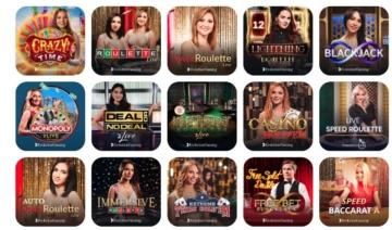 Live Casino Spieleangebot im Emojino Casino