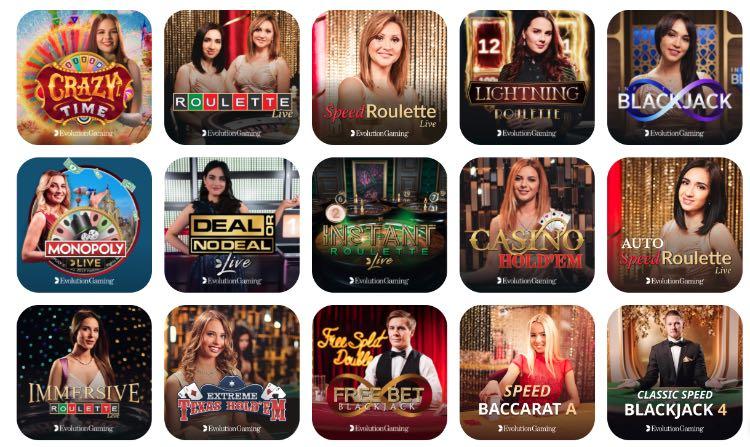 Evolution Gaming im Emojino Live Casino