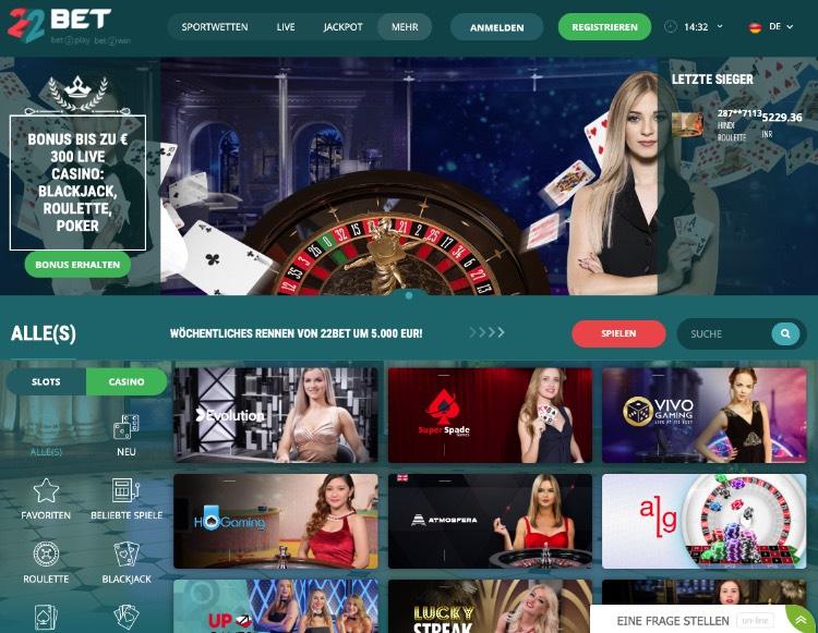 11Bet Casino Plattform