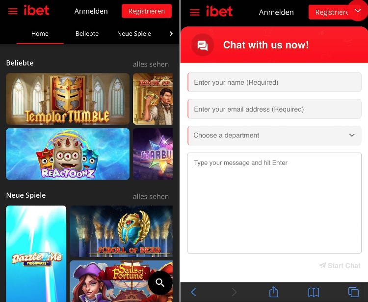 iBet Casino App