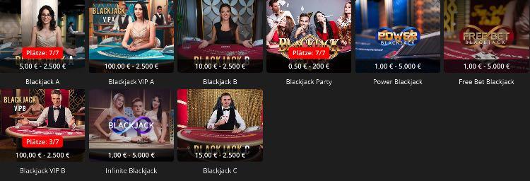 ibet live casino black jack