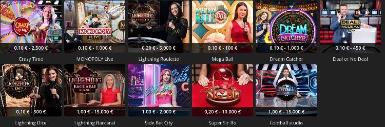 ibet live casino gameshows