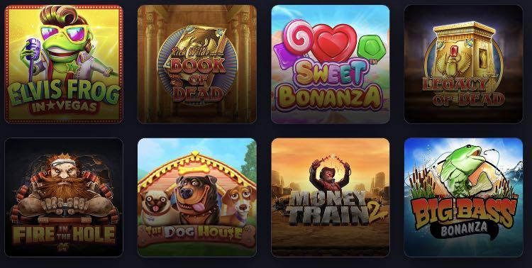 Praise Casino Spieleangebot