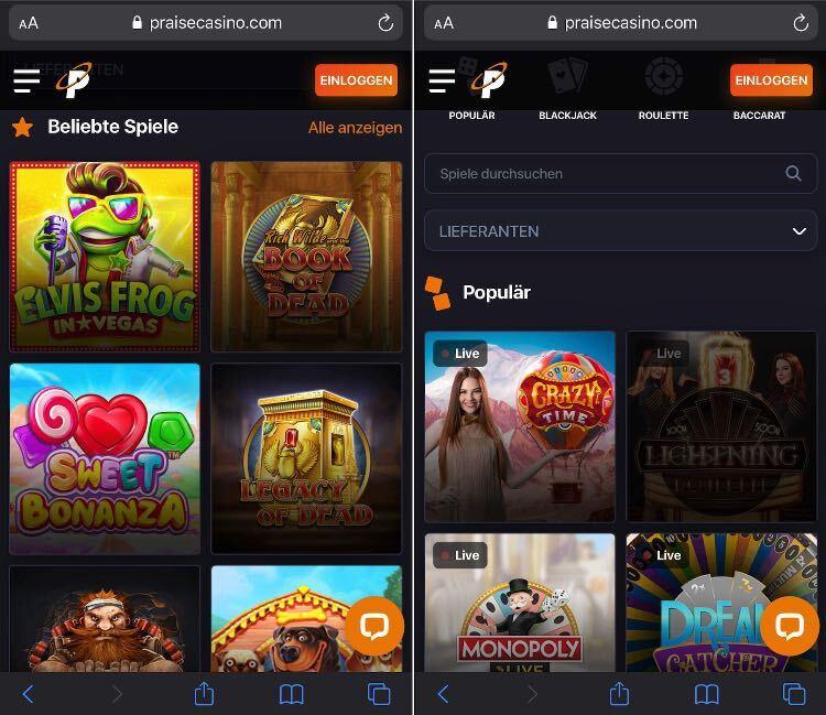 Praise Casino App