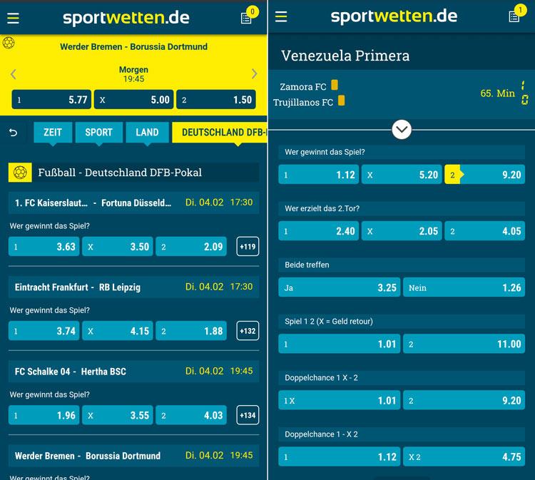 Sportwetten.de App